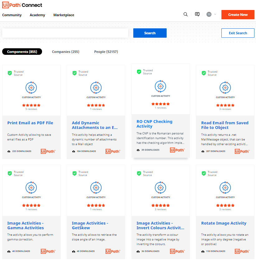 UiPath Connect Marketplace App Store